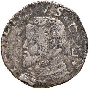 obverse: Messina. Filippo II re di Spagna (1556-1598 ). Da 3 tarì 1558 (sigla T-P; Tommaso Paulillo zecchiere) AG gr. 8,15. Spahr 56. MIR 319/3. Porosità del metallo al dr., altrimenti q.BB/BB