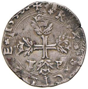 reverse: Messina. Filippo II re di Spagna (1556-1598 ). Da 3 tarì 1558 (sigla T-P; Tommaso Paulillo zecchiere) AG gr. 8,15. Spahr 56. MIR 319/3. Porosità del metallo al dr., altrimenti q.BB/BB