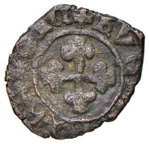reverse: Napoli. Giovanna II di Durazzo (1414-1435). Denaro MI gr. 0,60. Pannuti-Riccio 1. MIR 47. Molto raro. BB
