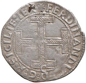 obverse: Napoli. Ferdinando I d Aragona (1458-1494). Coronato (sigla C; Jacopo Cotrullo m.d.z.) AG gr. 3,65. Pannuti-Riccio 16b. MIR 68/16. Jordi Vall-Losera i Tarrés 139. BB