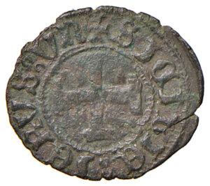 reverse: Napoli. Ferdinando I d Aragona (1458-1494). Tornese MI gr. 0,60. Pannuti-Riccio 26. MIR 80. Jordi Vall-Losera i Tarrés 186a. Raro. Buon BB