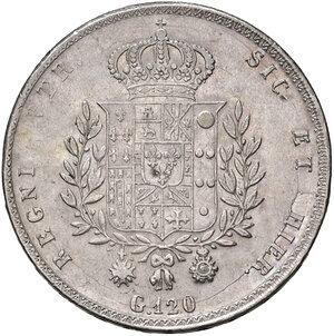 reverse: Napoli. Francesco I di Borbone (1825-1830). Da 120 grana o piastra 1825 AG. Pagani 109. Pannuti-Riccio 6. MIR 476. q.SPL