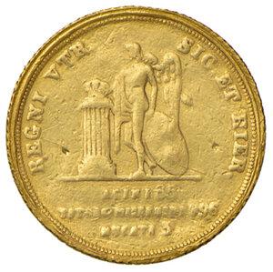 reverse: Napoli. Ferdinando II di Borbone (1830-1859). Da 3 ducati 1835 AV. Pannuti-Riccio 41. MIR 495/2. Millesimo rarissimo. Tracce di montatura, q.BB
