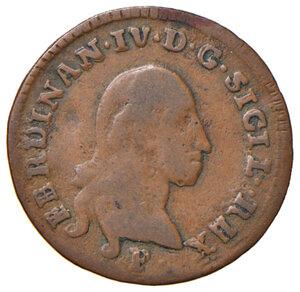 obverse: Orbetello. Reali presidi di Toscana. Ferdinando IV di Borbone (1759-1816). Da 2 quattrini 1798 CU gr. 2,24. Pannuti-Riccio 6. MIR 354/3. Rara. MB