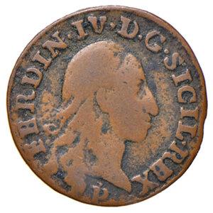 obverse: Orbetello. Reali presidi di Toscana. Ferdinando IV di Borbone (1759-1816). Quattrino 1798 CU gr. 1,44. Pannuti-Riccio 9. MIR 355/3. Raro. q.BB/BB