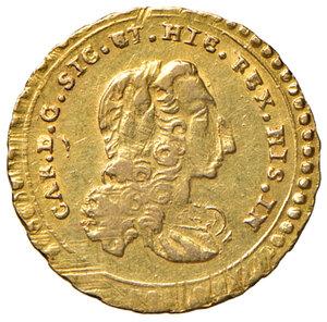 obverse: Palermo. Carlo di Borbone (1734-1759). Oncia 1737 AV gr. 4,41. Spahr 58. MIR 564/3. Migliore di BB
