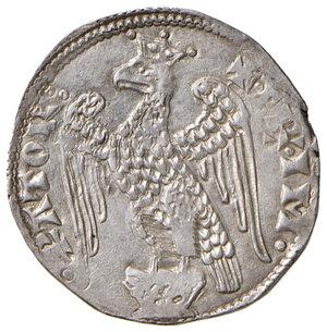 obverse: Pisa. Repubblica. Emissioni a nome di Federico I (1155-1312). Aquilino maggiore (simbolo rosetta) AG gr. 3,31. CNI 39/40. MIR 399 (post 1269). Molto raro. SPL