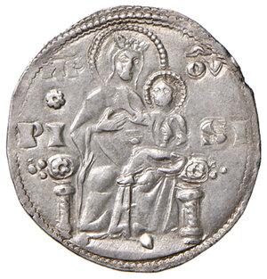 reverse: Pisa. Repubblica. Emissioni a nome di Federico I (1155-1312). Aquilino maggiore (simbolo rosetta) AG gr. 3,31. CNI 39/40. MIR 399 (post 1269). Molto raro. SPL