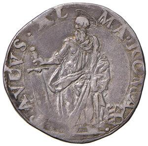 reverse: Roma. Paolo V (1605-1621). Testone anno IV AG gr. 9,36. Muntoni 35. MIR 1538/2. Raro. Patina di medagliere, BB