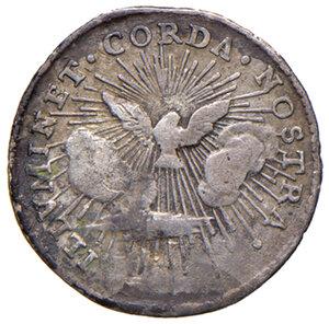 reverse: Roma. Sede Vacante 1740 (Camerlengo card. Annibale Albani). Grosso 1740 AG gr. 1,12. Muntoni 16. q.BB