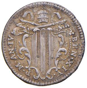 obverse: Roma. Benedetto XIV (1740-1758). Grosso anno IV AG gr. 1,30. Muntoni 85. Migliore di BB