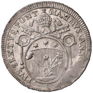 obverse: Roma. Pio VI (1775-1799). Da 60 baiocchi 1797 anno XXII MI gr. 17,14. Muntoni 62a. Debolezza di conio marginale, altrimenti SPL