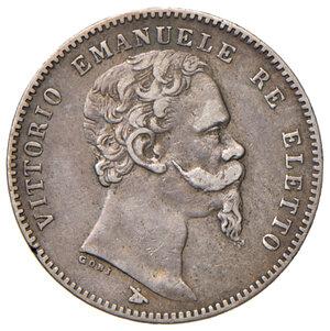obverse: Savoia. Vittorio Emanuele II re eletto (1859-1861). Lira 1860 Firenze AG. Pagani 441. BB