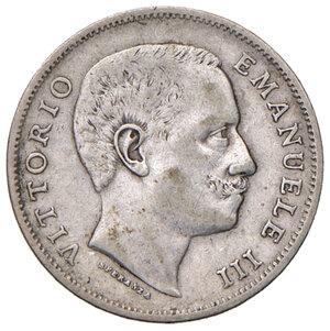 obverse: Savoia. Vittorio Emanuele III re d Italia (1900-1946). Lira 1905 AG. Pagani 765. Molto rara. BB