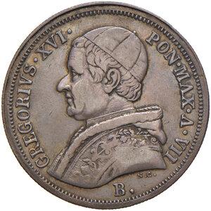obverse: Bologna. Gregorio XVI (1831-1846). Da 50 baiocchi 1837 anno VII AG. Pagani 160. Chimienti 1302. Rara. BB