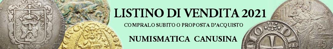 Banner Canusina - listino di vendita 2021