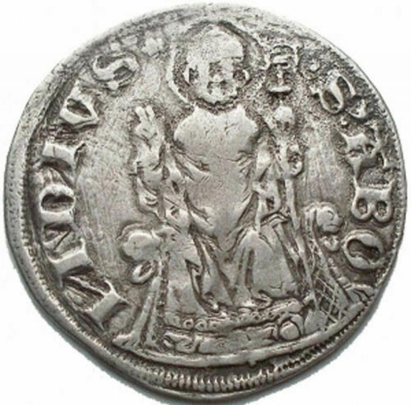 obverse: Como. Repubblica Abbondiana (1447-1448). Grosso. CNI 1/3 B. 656. RRR. AG. BB