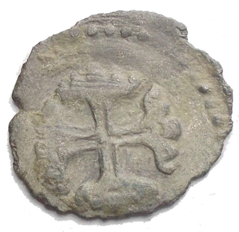reverse: Zecche Italiane. Correggio. Anonime dei conti Gerolamo, Gilberto, Camillo e Fabrizio (1569-1580). Quattrino. MIR 128. MI. g 0,46. R. BB.