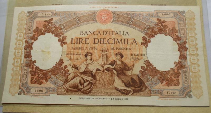 obverse: Repubblica Italiana - 10000 LIRE REPUBBLICHE MARINARE 10-02-1949. NC