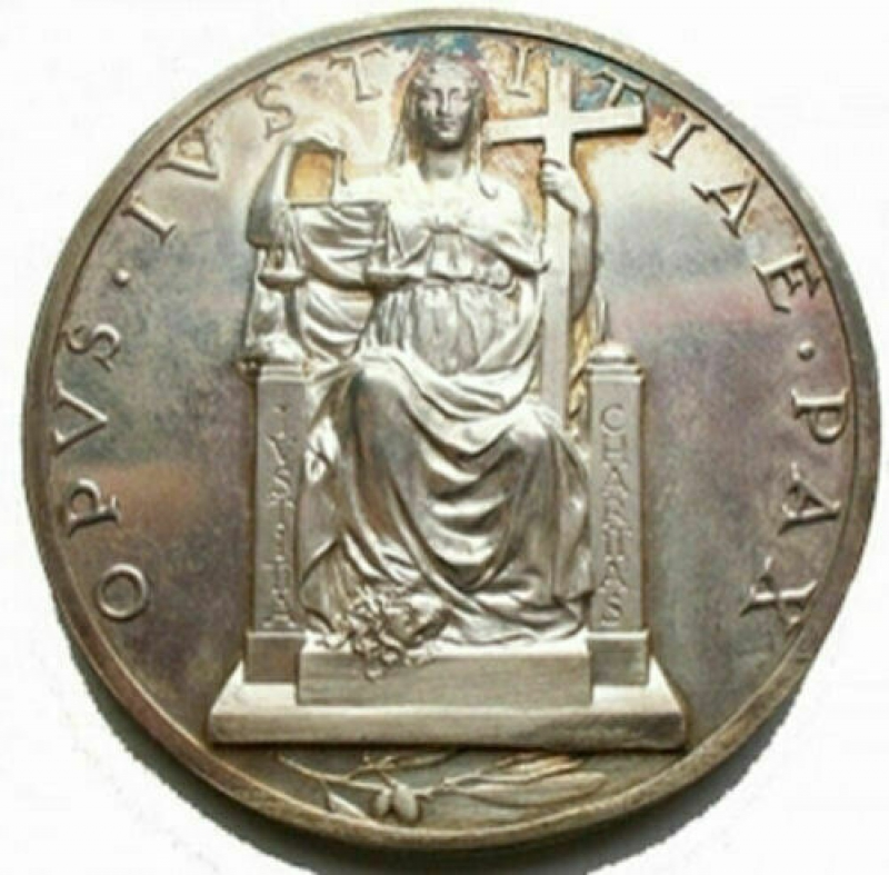 reverse: Medaglie - Pio XII medaglia A.II° Ag Opus Mistruzzi. Ag
