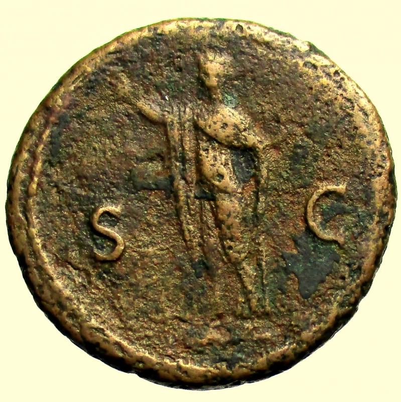 reverse: Impero Romano. Domiziano. 81-96 d.C. Asse. Ae.