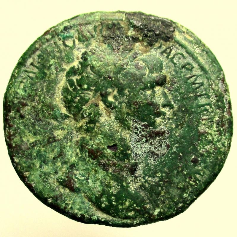 obverse: Impero Romano. Traiano. 98-117 d.C. Sesterzio.