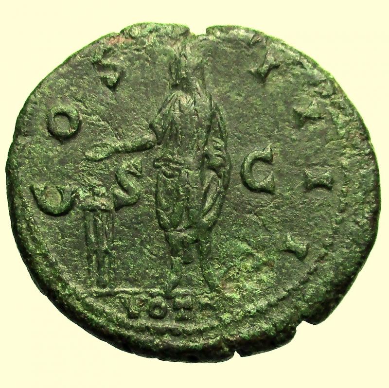 reverse: Impero Romano. Antonino Pio. 138-161 d.C. Asse. Ae.