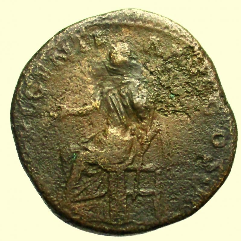 reverse: Impero Romano. Antonino Pio. 138-161 d.C. Sesterzio.