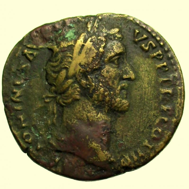 obverse: Impero Romano. Antonino Pio. 138-161 d.C. Sesterzio.