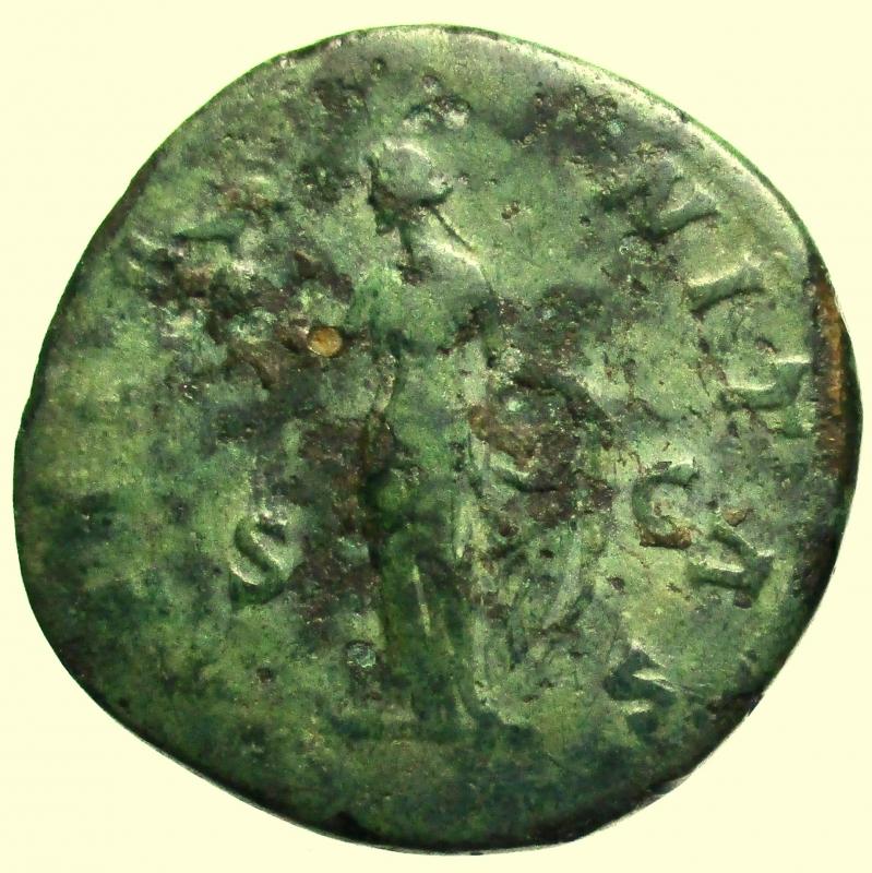 reverse: Impero Romano. Sesterzio Faustina I Deceduta nel 141 d.C.