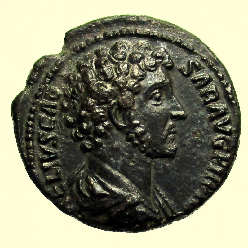 obverse: Impero Romano. Marco Aurelio. 161-180 d.C. Asse.