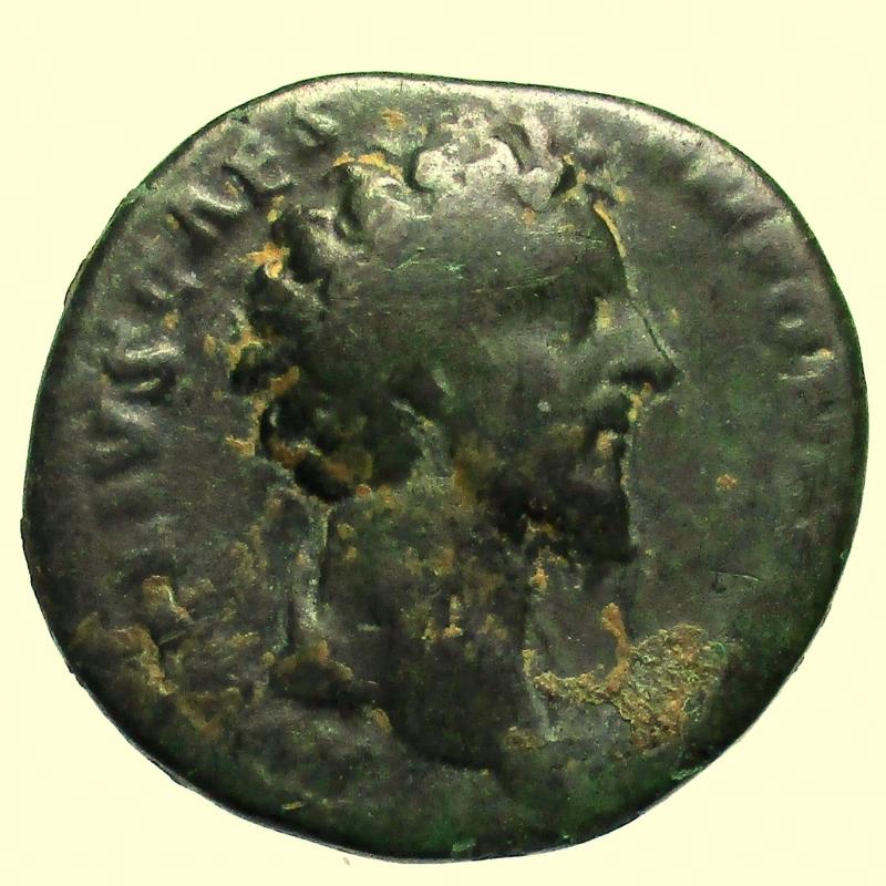 obverse: Impero Romano. Marco Aurelio da Cesare. 139-161 d.C. Asse.