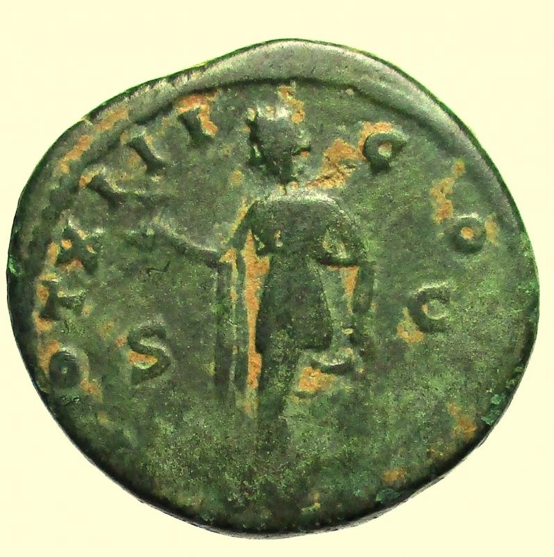reverse: Impero Romano. Marco Aurelio da Cesare. 139-161 d.C. Asse.