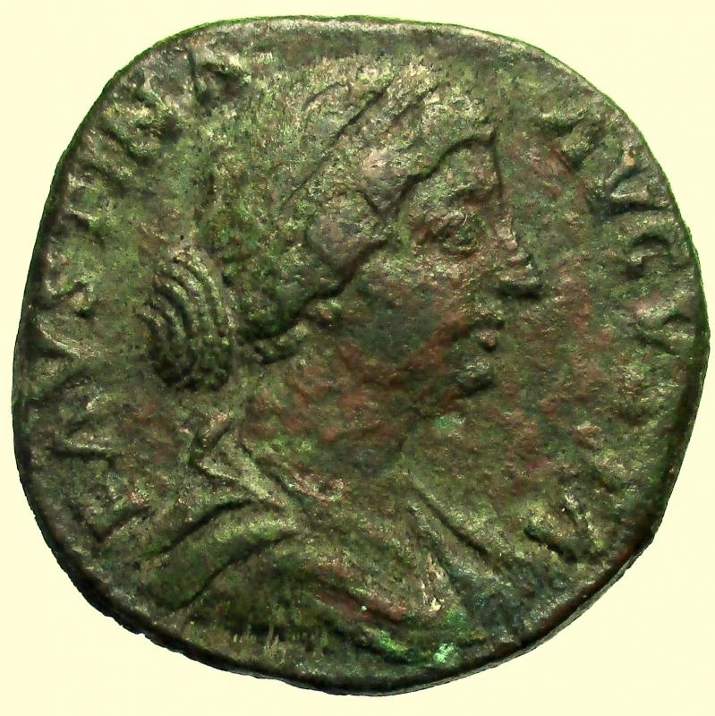 obverse:  Impero Romano. Faustina II morta nel 175 d.C.