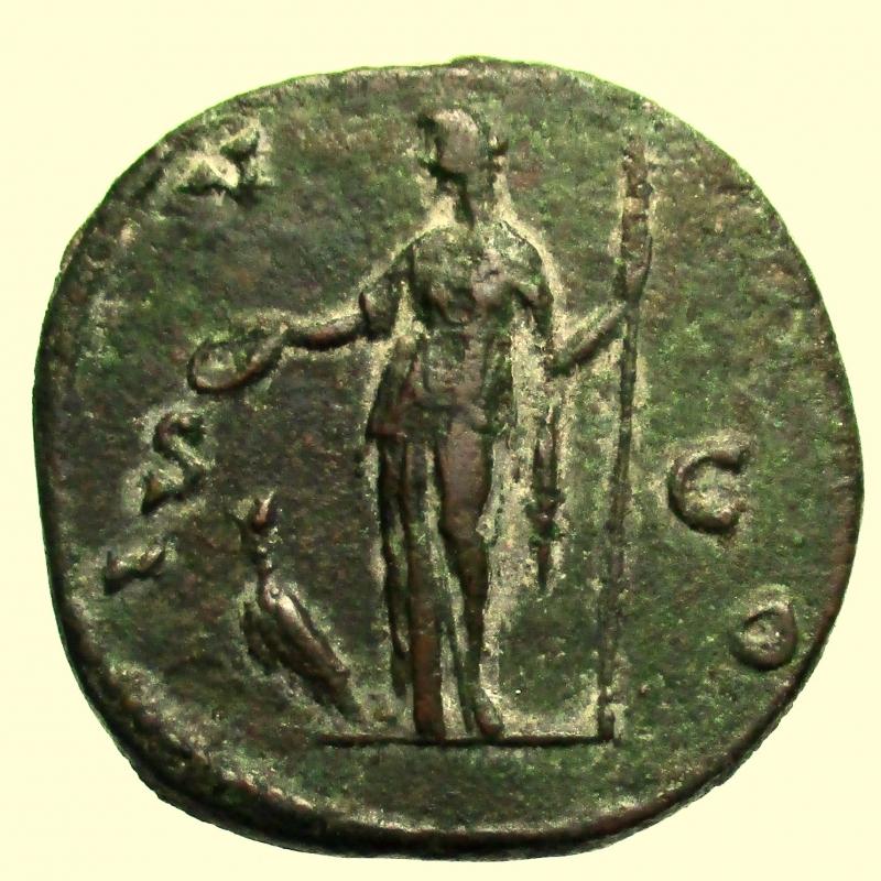 reverse:  Impero Romano. Faustina II morta nel 175 d.C.