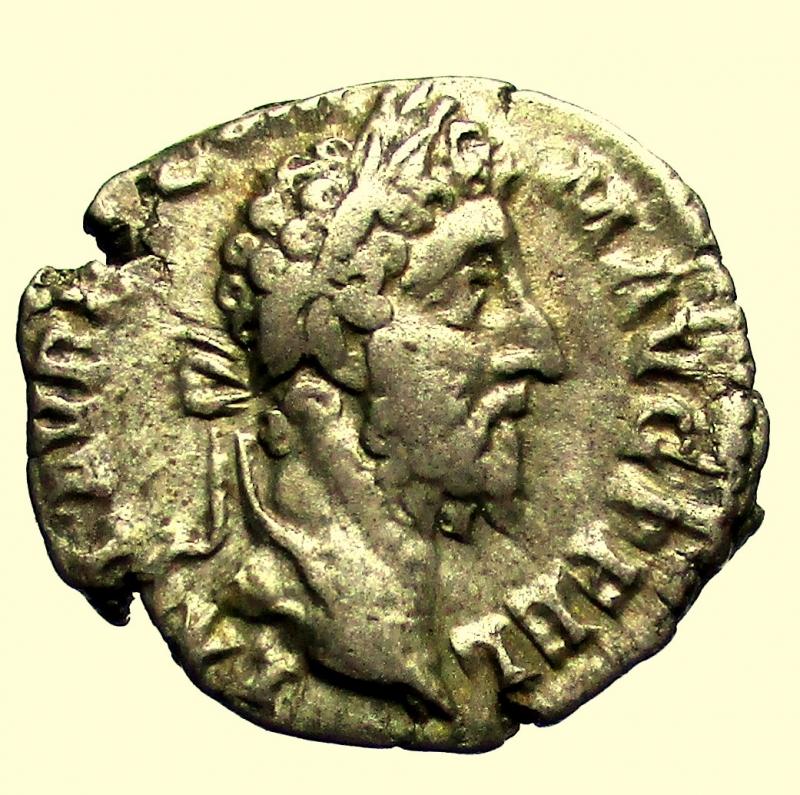 obverse: Impero Romano Commodo 177-192 d.C. Denario Roma