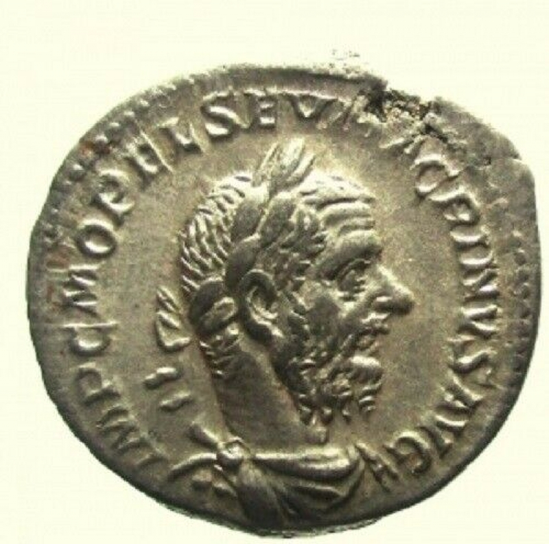 obverse: Impero Romano Macrino. 217-218 d.C. Denario. Ag. Roma.