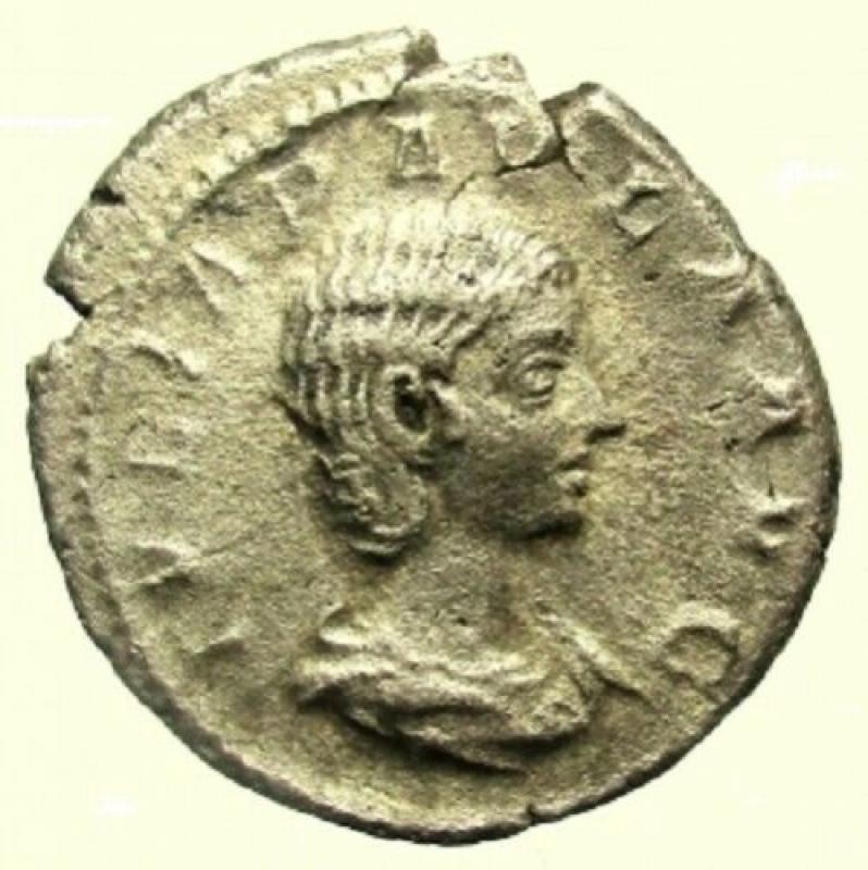 obverse: Impero Romano. Giulia Paula. Prima moglie di Eliogabalo. 218 d.C. Denario