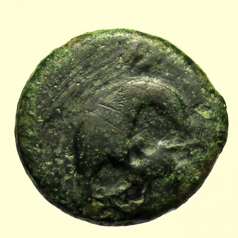 obverse: Mondo Greco Sicilia. Akragas.  Tetras o Trionkion 425-410 a.C.