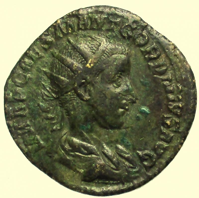obverse: Impero Romano. Gordiano III. 238-244 d.C. Dupondio.