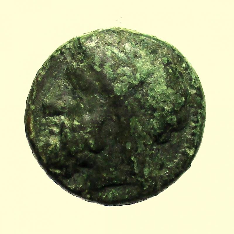 obverse: Mondo Greco, Sicilia  Akragas. Tiranno Phintias. 287-279 a.C.