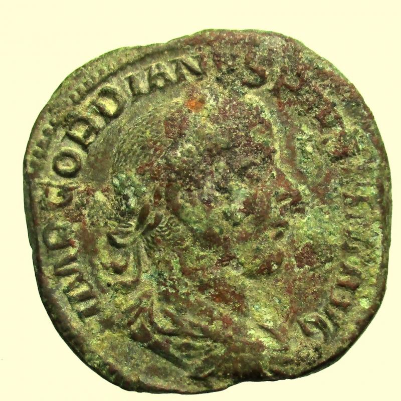 obverse: Impero Romano. Gordiano III. 238-244 d.C. Sesterzio.
