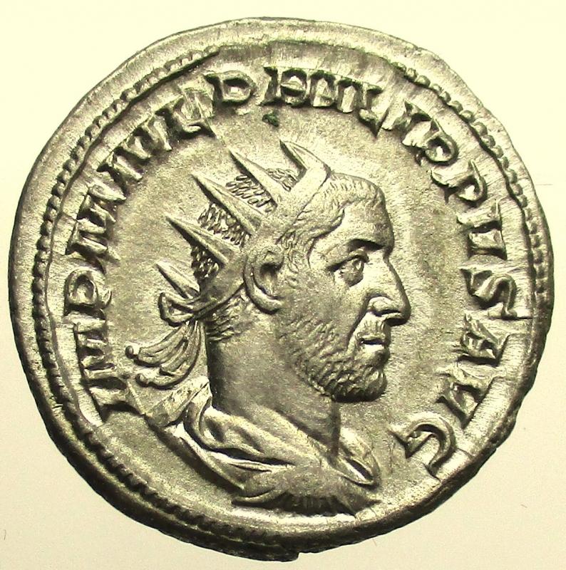 obverse: Impero Romano. Filippo I. 244-249 d.C. Antoniniano.