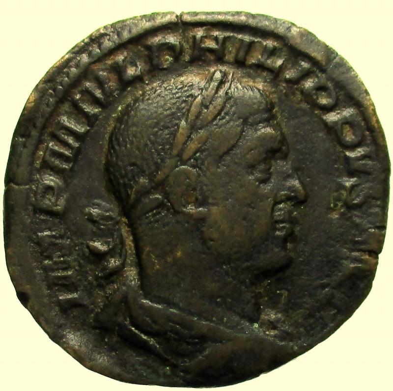 obverse: Impero Romano. Filippo I. 244-249 d.C. Sesterzio
