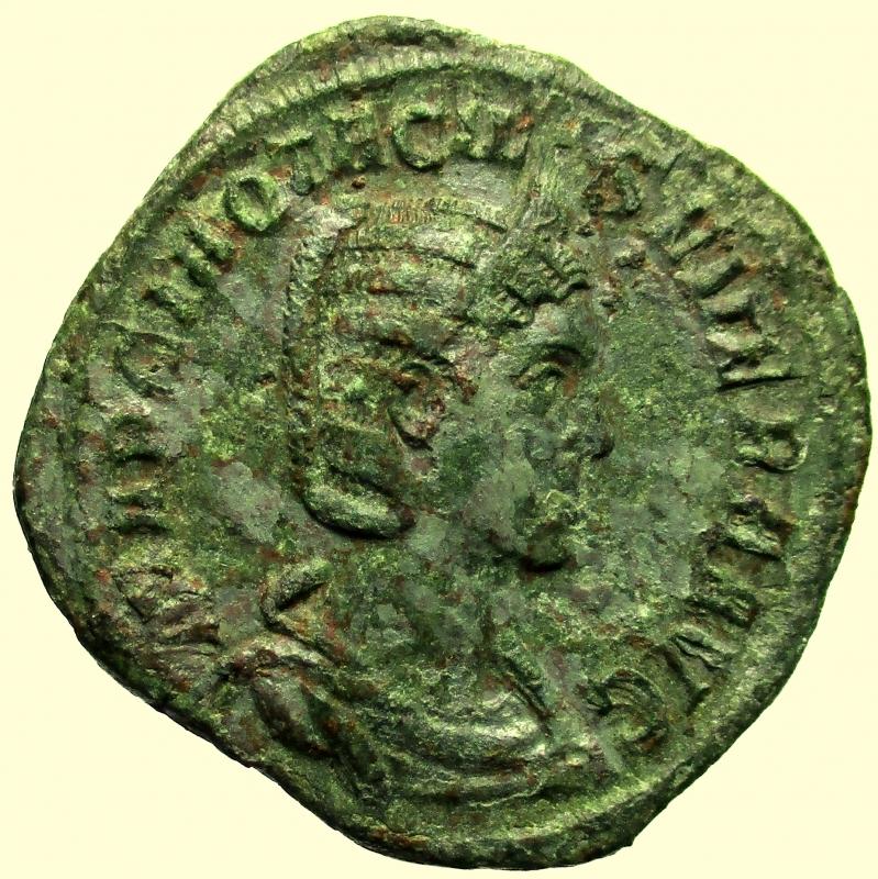 obverse: Impero Romano. Otacilia Severa. (Filippo I, 244-249 d.C.). Sesterzio.