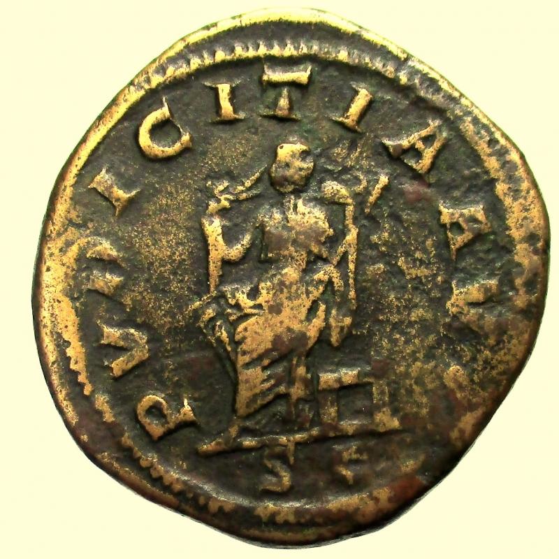 reverse: Impero Romano Otacilia Severa. Moglie di Filippo I 244-249 d.C. Sesterzio