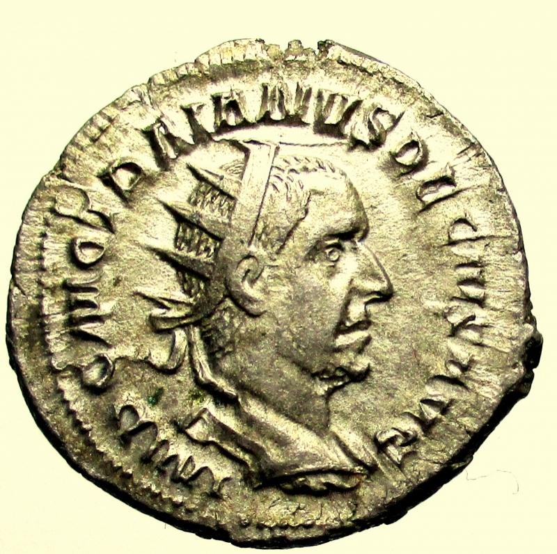 obverse: Impero Romano. Traiano Decio. 249-251 d.C. Antoniniano.