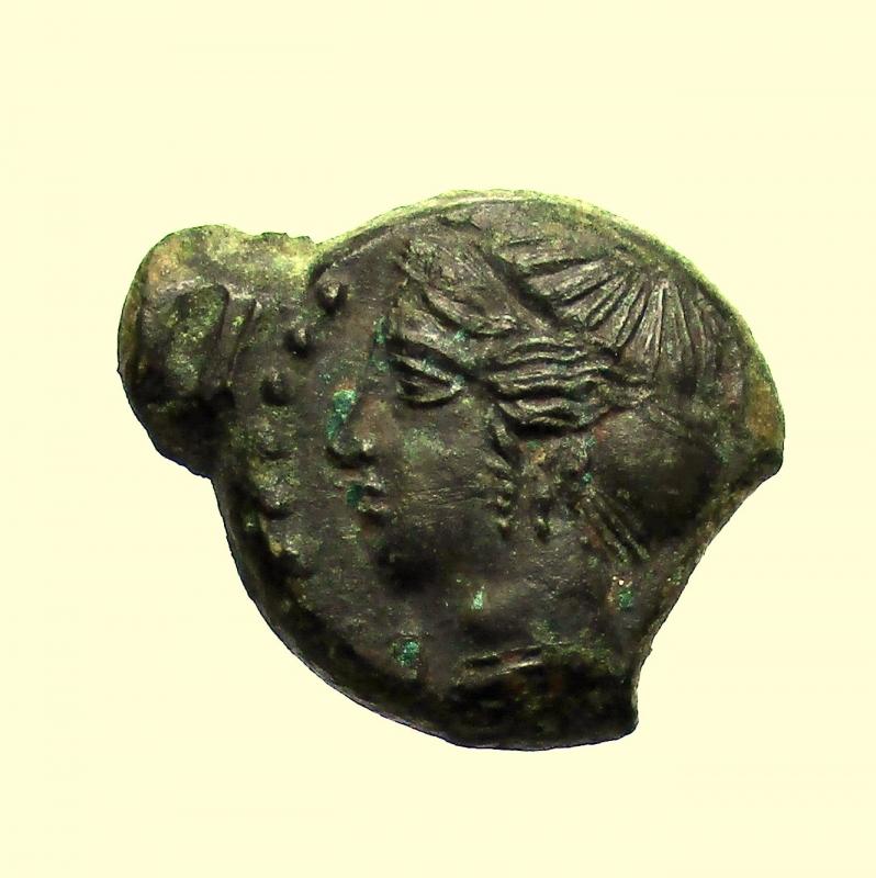 obverse: Mondo Greco. Sicilia. Himera. 420-408 a.C. Emilitra.