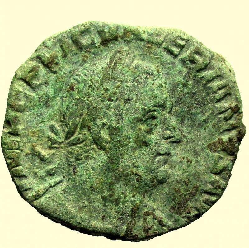 obverse: Impero Romano. Valeriano I. 253-260 d.C. Sesterzio