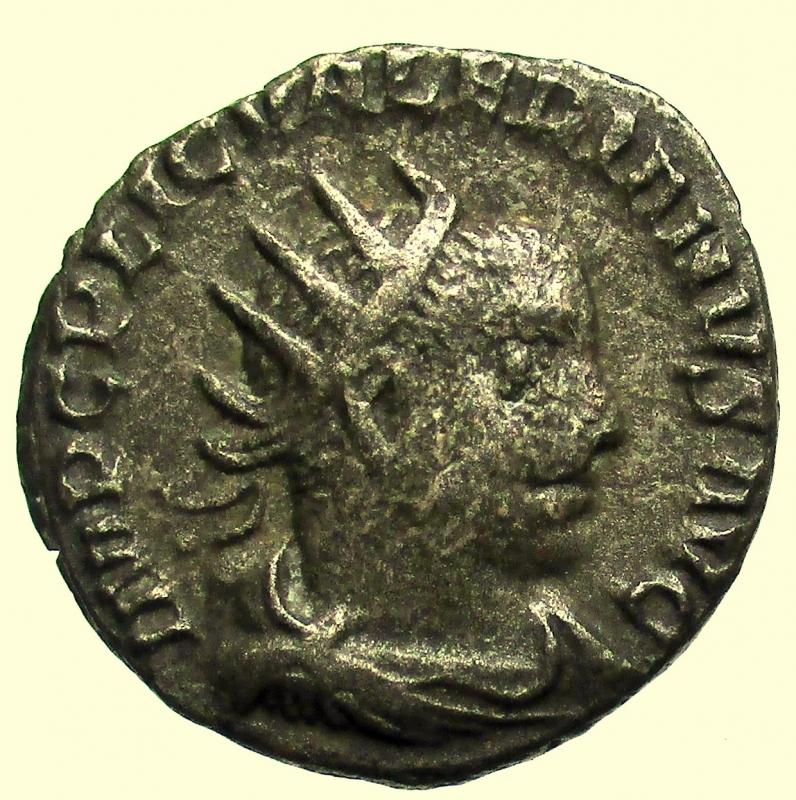 obverse: Impero Romano. Valeriano I. 253-260 d.C. Antoniniano